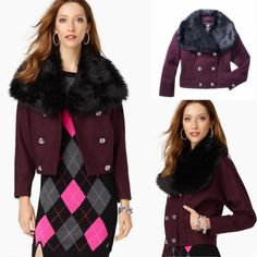 🎉HP🎉🎉Juicy Couture burgundy wool jacket xs Brand new without tag, Wool/polyamide/polyester; lining: polyester. ❌NO TRADE‼️ Juicy Couture Jackets & Coats
