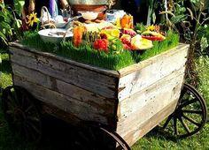 Appetizers for outdoor wedding.  Caterer Simply Scrumptious, Ann Arbor, MI. Event Planner Gretchen Speidel