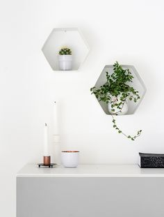 The easiest way to make DIY Hexagon Wall Shelf 5