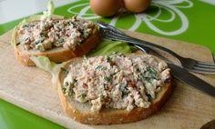 Pasta parówkowo-jajeczna Salmon Burgers, Baked Potato, Potatoes, Baking, Ethnic Recipes, Spreads, Poland, Food, Sauces