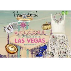 Vegas Bride Baby, created by middaymoon on Polyvore- Created for a polyvore contest