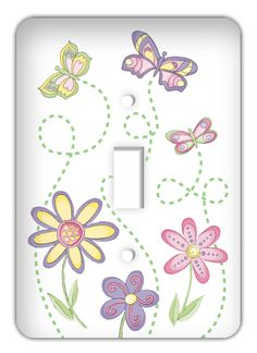 "Accent your home with a with this fun patterned light switch cover. Personalize with different your designs in vibrant clarity and brilliant colors. Customize this metal light switch cover to match the decor in your home or add character to any room! Fits standard UL light switches and outlets.  Single light switch cover: 5"" x 3.5""  Double light switch cover: 5"" x 4.5""  Single outlet cover measures: 5"" x 3.5"""