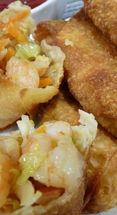 Shrimp Egg Rolls _ Best egg rolls ever! This will become your go to recipe. Make with chicken or pork if you want to change it up.