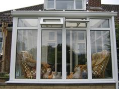White PVCu Full-Height Glass DIY Lean-to Conservatory. Sunlounge Conservatories Manufactured and supplied by ConservatoryLand DIY Conservatories UK. Conservatory pictures kindly supplied by our customers.
