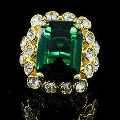 QVC Kenneth Jay Lane's Gold Tone Duchess Engagement Ring 6 #KennethJayLane #Christmas