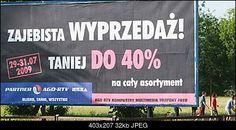 Reklama z 2009 roku. Przyciąga uwagę!