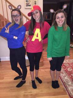 Alvin and the Chipmunks DIY Halloween costume