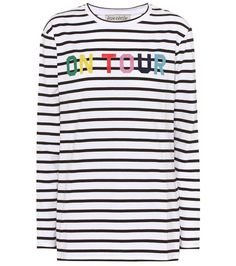 ETRE CECILE Striped Long-Sleeved Cotton Shirt. #etrececile #cloth #tops