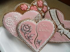 Fancy Pink Hearts | Cookie Connection