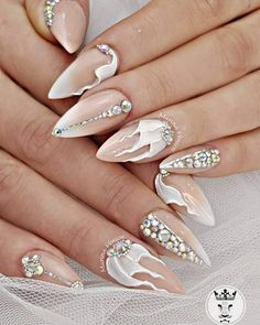 Glamorous bridal nails  Νυφικά νύχια για όσες νιώθουν........πριγκίπισσες!!!!!!!!  #nails💅 #nailart #bridalnailsart #nailsforprincess #glamorousnails  #3dplastelinenailart #warkwithlove #nailssalon #nailsdone #nailaholic #nails2inspire #nailaddict #nothingisordinary #nailartist #marinaveniou #nailartseminars #trustthexperts #beautymakesyouhappy   www.kalliopeveniou.gr