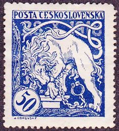 postage stamp from Czechoslovakia Old Stamps, Vintage Stamps, Postage Stamp Design, Vintage Lettering, Small Art, Stamp Collecting, Drawing, Retro, Poster