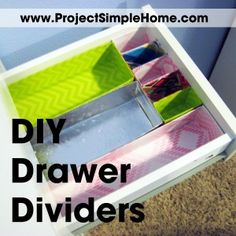 Love clean drawers but HATE the price of store bought drawer organizers? Learn to make your own DIY drawer organizers out of free items around your home! Diy Drawer Dividers, Diy Drawer Organizer, Home Organisation, Office Organization, Organizing Solutions, Organizing Ideas, Diy Drawers, Bathroom Drawers, Simple House