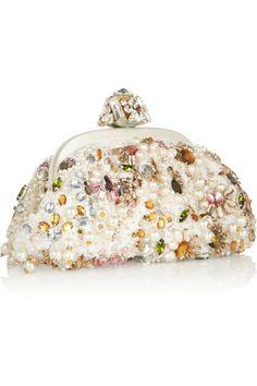 Dolce & Gabbana|Miss Dea small embellished lace clutch |NET-A-PORTER.COM