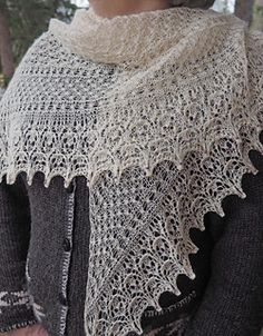 Composed of stitch patterns pulling the lace weight yarn every which way, Effervescent is a floating, airy confection. Be sure to work this lovely shawl up in a very very loose gauge, then watch the blocking magic happen!