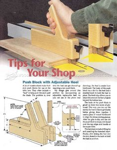 Table Saw Push Block Plans - Table Saw Tips, Jigs and Fixtures | WoodArchivist.com
