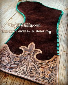 Beads N Bling home of custom leather and beadwork from purses,bags,belts,tack wallets and much more! Leather Carving, Leather Art, Sewing Leather, Leather Pattern, Custom Leather, Leather Tooling, Tooled Leather, Handmade Leather, Leather Jewelry