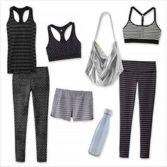 Pattern play in shades of black.   Athleta at Town and Country