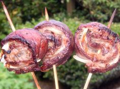 Grilled Meat Wheels- these suckers are made up on Steak, Onion and Bacon, what could be better? #myhttender #outdoordining #BBQ