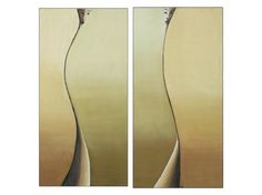 """Female Figure Painting, Surreal Woman Figure    """"Mea & Meo"""" - this is a unique set of two oil paintings on canvas. Female figure is the basic theme of"""