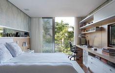 dormitório com escritório planejado