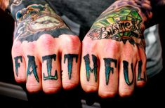 Finger tattoos. I wouldn't get this, but I like the colors