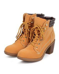 c141064e1af4 New Women Wild Diva Essence 47 Nubuck Round Toe Chunky Heel Lace Up Work  Bootie