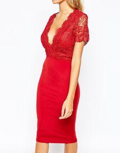 El color de la seducción: todo al #rojo  #red #dress #inspiration #look