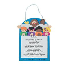 The Lord's Prayer Craft Kit - Definitely need something like this to help the kids learn The Lord's Prayer