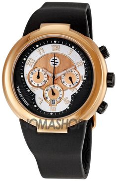 Philip Stein Active Chronograph Mens Watch 32-ARG-RBB $313.04