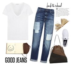 """""""Back To School Denim Jeans"""" by rever-de-paris ❤ liked on Polyvore featuring mode, Marni, James Perse, Sportmax et Keds"""