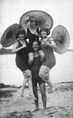 People having fun at the Wannsee, Berlin, 1925 - Berlin During The 1920s  Best of Web Shrine