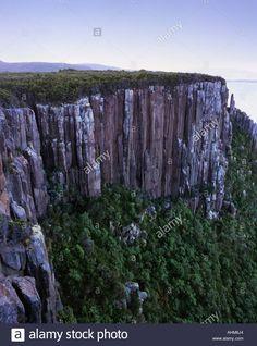 Dolerite Cliffs at Cape Raoul Tasman National Park Tasmania Australia Stock Photo, Royalty Free Image: 8287395 - Alamy
