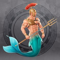 Merman Gladiator (Finished) by TheFuhrerDoodles