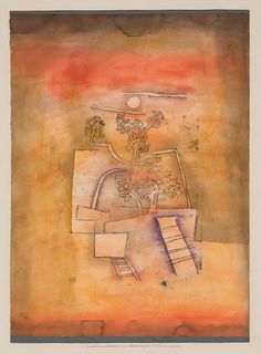 ree Culture by Paul Klee, 1924, Guggenheim Museum    Size: 47.4x34.9 cm  Medium: Watercolor and oil transfer drawing on paper, with watercolor on cardboard mount  Solomon R. Guggenheim Museum, New York Solomon R. Guggenheim Founding Collection © 2016 Artists Rights Society (ARS), New York / VG Bild-Kunst, Bonn
