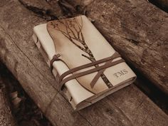 leather journal notebook diary in brown and by MedievalJourney