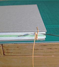 Coptic stitch binding tutorial