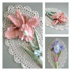 Garden Flower Sculpture Clay Flower Decor 3D Flower Wall Art Floral Sculpture Painted Flower Wall Sculpture Flower Wall Decor Wedding Gift