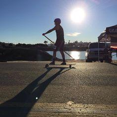 @ernestejjohnson and @archerjack31  24-mile skateboard race!  Go boys!