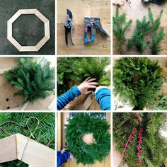 Make your wreath from your trimmed tree branches
