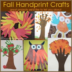 Fall handprint owls – use paper and paint to create these cute owl art projects. The handprints are the