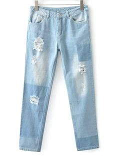 SHARE & Get it FREE   Broken Hole Boyfriend JeansFor Fashion Lovers only:80,000+ Items • New Arrivals Daily Join Zaful: Get YOUR $50 NOW!