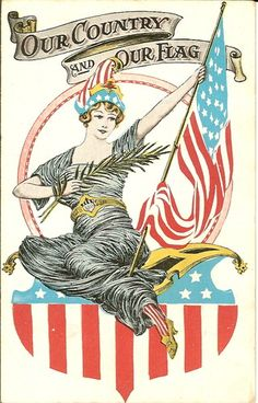 Our Country and Our Flag Patriotic Postcard July 4 Fourth of July | eBay