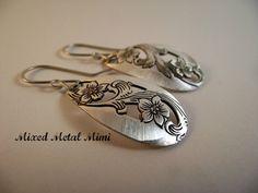 Silver Earrings Medium Earrings Tear Drop Shape by mixedmetalmimi
