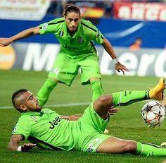 Caceres  en el Aletico Madrid - Juventus