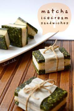 Matcha Ice Cream Sandwiches #healthy #dessert #recipe #raw #vegan #green #tea #matcha