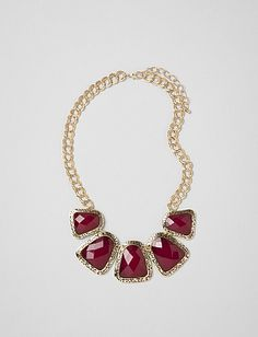 Faceted Statement Necklace