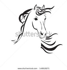 Find Vector Silhouette Horses Head stock images in HD and millions of other royalty-free stock photos, illustrations and vectors in the Shutterstock collection. Horse Head Drawing, Horse Drawings, Animal Line Drawings, Horse Stencil, Clown Paintings, Fire Horse, Painted Rock Animals, Horse Quilt, Horse Logo