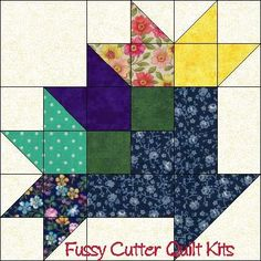 Scrappy Fabrics Flower Baskets Easy Pre-Cut Quilt Block Kit May