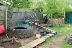 Love the big old tyre! So good to use as part of an obstacle course or for 'hide and seek'!!