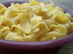 Good for a sick day! These are so yummy!!! Amish Noodles:   2 tablespoons butter  1 chicken bouillon cube  2 (14 ounce) cans chicken broth  12 ounces egg noodles  Directions:  In a large pan, brown the butter. Add broth and boullion cube, bring to a boil. Add noodles, bring to a second boil, cover and turn off heat. (leave pot on the same burner). Let stand 30 minutes, stirring 2 or 3 times.